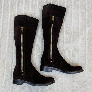 Women's Sergio Rossi Brown Riding Boots
